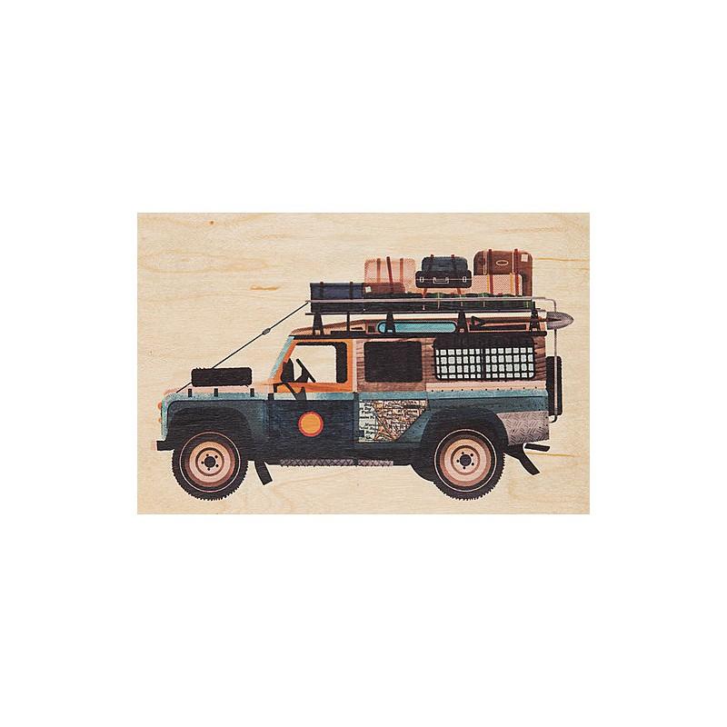 Carte postale en bois 4X4